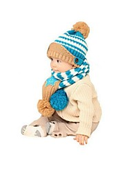 Kinderwinterpentagramm Strickmütze 2er Set für 5-36 Monate