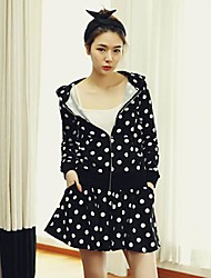 Women's Casual Polka Dots Suits(CoatAnd Skirt)