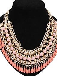 clássicos de instrução das mulheres de resina de luxo exagerar elegante colar