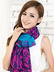 Women Blue Purple  Voile Scarves Bali Yarn Scarf Shawls