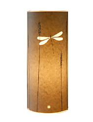 lámpara de pie 1 libélula luz pantalla patrón pergamino 220v