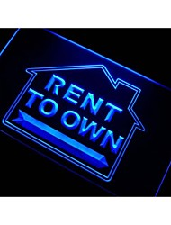 m095 Rent to Own Estate Agent Neon Light Sign