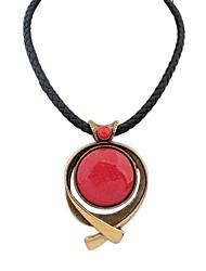 Европейский урожай круглый значок бисером ремень кулон ожерелье женщин