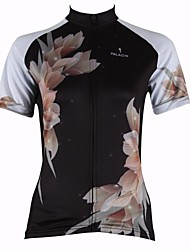 PALADIN® Cycling Jersey Women's Short Sleeve Bike Breathable / Quick Dry / Ultraviolet Resistant Jersey / Tops 100% PolyesterFloral /