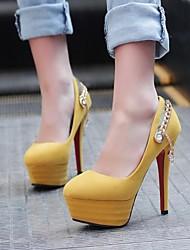 Damenschuhe runde Kappe Pfennigabsatz Pumpen Schuhe mehr Farben erhältlich