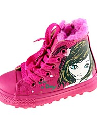 Girls' Shoess Comfort Flat Heel Ankle Boots Cotton Flats Zipper Shoes