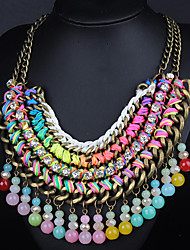 Moon Year Women's  Multilayer Diamante Necklace