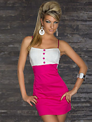 Girls Night Women's Color Block Blue / Pink Dresses , Sexy / Casual / Party Mid Rise Sleeveless