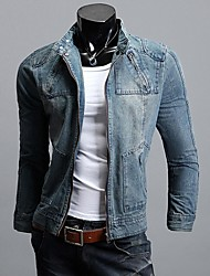 Men Detachable Hooded Denim Jacket