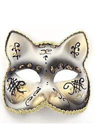 chat blanc ps Halloween masque de partie