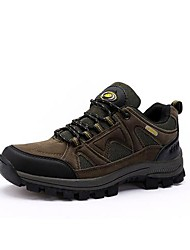 Men's Hiking Shoes Leather Brown / Yellow / Gray