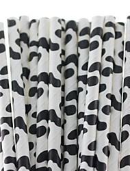 корова напечатаны милые соломинки бумага питьевой для душа ребенка (25 шт)