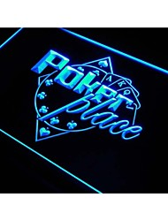 m059 Poker Place Neon Light Sign