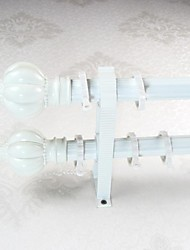 Aluminum Alloy Spray Lvory Pagoda Rome Three Line Rod Curtain Double Rod 04901-01