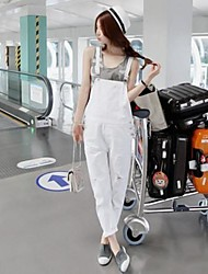Women's Blue/White Jumpsuits , Casual Sleeveless