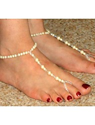 Women's All Handmade Crystal Beads Pearl Beads Anklet