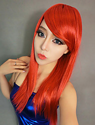 Graceful Girl Red Synthetic Fiber Long Straight 55cm Women's Halloween Party Wig