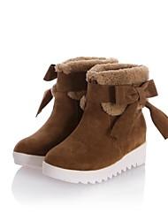 botines zapatos de moda de tacón bajo de las mujeres con bowknot más colores disponibles