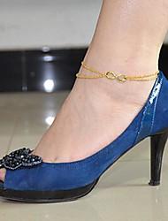Shixin® Fashion  Women's Alloy  Anklet (20cm*1cm*0.5cm) (Silver,Golden)(1 Pc)
