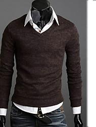air moulante col V style coréen tricots