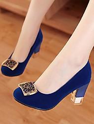 Scarpe Donna - Scarpe col tacco - Casual - Punta arrotondata - Quadrato - Finta pelle - Nero / Blu / Borgogna
