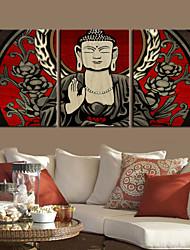 Stretched Canvas Art Buddha Set of 3