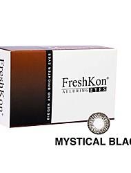 FreshKon Allurig Eyes Mystical Black (2 Lens /box)(Zero Degree)