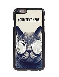 Personalized Case Lecherous Cat Design  Metal Case for iPhone 6 Plus