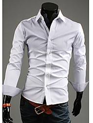 TUNE Joint Contrast Color Simple Casual Long Sleeve Shirt
