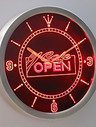 nc0247 Cafe OPEN Display Neon Sign LED Wall Clock