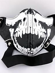 Maschera Ispirato da Tokyo Ghoul Cosplay Anime Accessori Cosplay Maschera Nero Cuoio Uomo