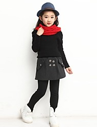 Girl's Fashion Leisure Joker Fake Two Piece Leggings And Skirt