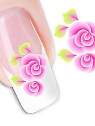 1 Sticker Manucure  Autocollants de transfert de l'eau Autocollants 3D pour ongles Fleur Mariage Maquillage cosmétique Manucure Design