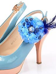 doek bloem decoraties accenten voor schoenen-set van 6 (meer kleuren)