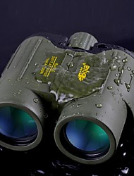 BIJIA 8x 42 mm Binoculars Wide Angle / Waterproof 114m/1000m Central Focusing Zoom Binoculars / Night Vision Green / Black