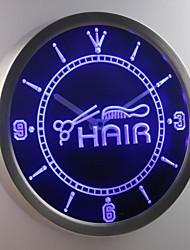 nc0320 Hair Cut Scissor Comb Shop Neon Sign LED Wall Clock