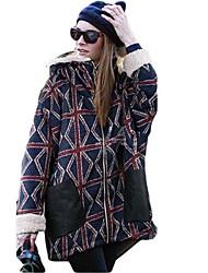 Women's  Check Pattern Slouchy Oversized Fleece Hoodie