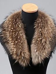 mode réel véritable fourrure de raton laveur écharpe collier enveloppement des femmes