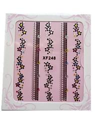 5pcs strass flor multicolor espumante&arte borboleta 3d adesivos de unhas