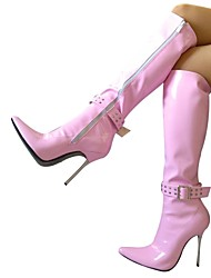 puntas rodilla tacón de aguja del dedo del pie botas altas zapatos de las mujeres atractivas más colores disponibles