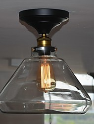 Bulb Included Flush Mount , Country Living Room/Bedroom/Dining Room/Study Room/Office/Hallway Glass