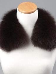caffè alla moda unisex reale genuino della pelliccia di volpe avvolgere sciarpa collare