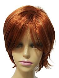 grau superior sem tampa mista cor sintético laranja peruca curta reta