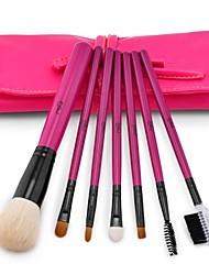 msq®7pcs chèvre naturel maquillage de brosse à cheveux réglé avec sac