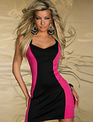 Girls Night Women's Color Block Red / Green Dresses , Sexy / Casual / Party Mid Rise Sleeveless
