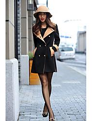 contraste casaco de lã cor das mulheres de lavanda