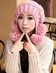 la personnalité de la mode des femmes chaud cheveux lourds oreilles à billes de chapeau