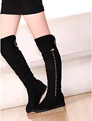damesschoenen ronde neus lage hak knie hoge laarzen meer kleuren beschikbaar