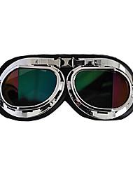 pliegue de marca gafas de seguridad moto scooter de moto casco gafas gafas de cristal de colores
