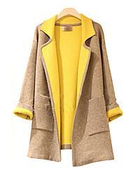 mode warme tweed jas met lange mouwen